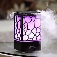 Máy xông tinh dầu, phun sương cao cấp hình trụ vuông (200 ml) + 1 lọ tinh dầu