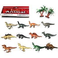Bộ 12 mô hình khủng long mini Animal World 129