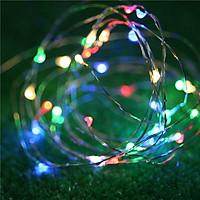 Đèn LED dây đồng dài 5m 50 bóng tích hợp cổng sạc USB trang trí phòng ngủ, cửa hàng, quán cafe, sinh nhật- Dây đèn đom đóm dây đồng