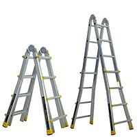 Thang nhôm trượt đa năng JUMBO A404 - Chữ A cao nhất 1.9m, chữ I cao nhất 4.0m, tải trọng 300kg