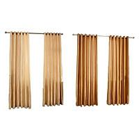 2pc Sheer Door Window Curtain Satin Tulle Grommet Bedroom Living Room Window