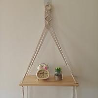 kệ trang trí kệ treo dây macrame handmade 40x15x70cm