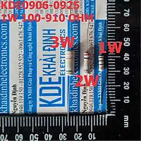 điện trở 1W, 5% (4 vạch) 100-910Ohm (GIÁ CHO 1 GÓI 50 CON cùng loại) kde0906