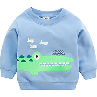 New Arrival Baby Boys Girls Sweatshirts Spring Autumn Children  Long Sleeves Crocodile Red Top Kids Clothes