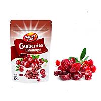 Nam việt quất khô nhập khẩu Canada - dried cranberry Dan.D.Pak 150g,không chất bảo quản,giải độc tố trong cơ thể,làm đẹp da,là liều thuốc hữu hiệu để hạn chế nguy cơ bị ung thư, đột quỵ, nhiễm virus, bệnh tim và bệnh nhiễm trùng men.