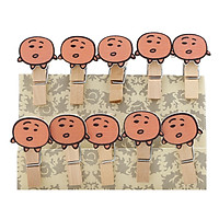 Bộ Kẹp Ảnh Gỗ - Bánh Quy Shooky (9 x 12 cm)