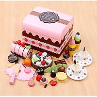 Đồ Chơi Gỗ - Bộ tiệc sinh nhật Socola, đồ chơi cho bé gái xinh xắn
