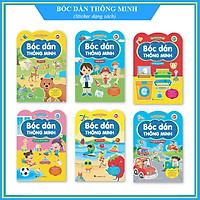 Bộ Sticker 6 cuốn - Bóc dán thông minh song ngữ Anh Việt (cho bé 2 - 6 tuổi)