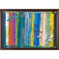 Tranh sơn dầu sáng tác vẽ tay: Gánh