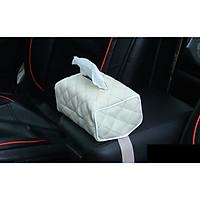 Hộp da đựng khăn giấy trên ô tô, phòng khách