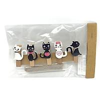 Kẹp Gỗ Hình Nhỏ 9 - Mẫu 68 - Hình Mèo