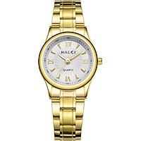 Đồng hồ Nữ Halei cao cấp - HL489 Dây vàng mặt trắng