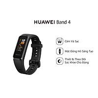 Vòng đeo tay thông minh Huawei Band 4 | Thiết kế trẻ trung, trải nghiệm hoàn hảo | Mặt đồng hồ sáng tạo | Sạc dễ dàng, dùng lâu hơn | Phát hiện bão hòa Oxy | Theo dõi nhịp tim thông minh | Hàng phân phối chính hãng