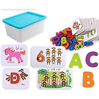 Đồ Chơi Gỗ - Hộp thẻ học chữ cái và số, cho bé vừa học vừa chơi đầy sáng tạo và hiệu quả