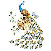 Đồng hồ treo tường trang trí chim công đuôi dài DNS01