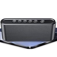 Loa Bluetooth Nút Bấm Cảm Ứng, Siêu Bass Công Suất 6W Manovo X6 - Đen - Hàng nhập khẩu