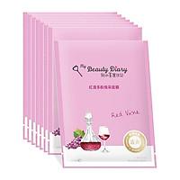 Hộp 8 Miếng My Beauty Diary - Mặt nạ phục hồi tinh chất rượu vang đỏ - Hàng Nội Địa Đài Loan