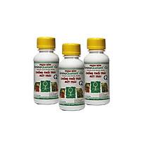 Combo 3 lọ phân bón AMINO QUELANT-CA chống đỗ ngã, thân cứng cáp, bông lâu tàn (100ml/chai) - Phân bón chuyên dùng cho hoa lan, hoa hồng, bonsai