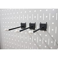 Bộ 3 móc đơn 10S Pegboard - Móc treo bằng thép sơn tĩnh điện hiện đại - Phụ kiện móc treo dụng cụ Pegboard