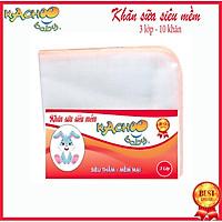 Khăn sữa siêu mềm KACHOOBABY bịch 3 lớp (24x28cm)mềm mại thấm hút tốt, dùng để lau mặt, quàng cổ, thấm sữa