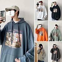 "7 Colours【M-5XL】Fashion ""Old Photos"" Printing Hoodie Men Oversize Loose Sweatshirt Windbreaker Hooded T-shirt"