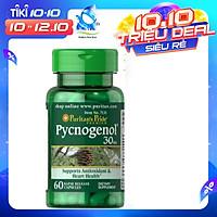 Thực Phẩm Chức Năng - Chống Oxy Hóa Mạnh Gấp 50 Lần Vitamin E Ngừa Lão Hóa Từ Bên Trong, Chiết Xuất Nhựa Cây Thông Đỏ Pycnogenol (30 Viên)