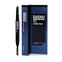 Chỉ kẻ chân mày Hàn Quốc cho Nam, bút kẻ lông mày 2 đầu Dashu Mans Good Looks Eyebrow Pencil không cần chuốt màu xám đen, đầu chì 4mm nét mềm mại, tự nhiên, màu sắc rõ ràng, bền màu, 1 đầu cọ vặn dễ sử dụng giúp tạo kiểu, tán màu đều.