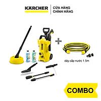 Combo Máy phun rửa áp lực cao Karcher K 2 Full Control Car & Home và dây cấp nước 1.5m