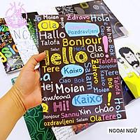 Bao tập chủ đề môn Ngoại ngữ - Tiếng Anh - Bao tập môn học - Giấy bọc vở môn học SIÊU CHẤT