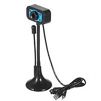 Webcam Mini HD Có Cổng USB + Đèn LED Quay Video Ban Đêm & Mic Cho Laptop / PC