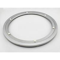 vòng xoay nhôm Ø300mm được dùng làm đế mâm xoay bàn ăn tròn trong nhà hàng tiệc cưới, là phụ kiện sản xuất trong ngành nội thất, dùng để xoay tròn các vật dụng, dùng để trang trí chế tác xoay tròn