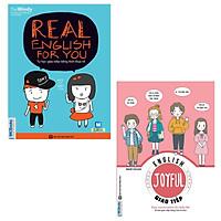 COMBO Real English for you Tự học giao tiếp tiếng Anh thực tế + Joyful English - Easy conversation for daily life