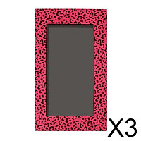 3xEmpty Magnetic Eyeshadow Palette Makeup Cosmetic DIY Palette Pink Leopard