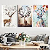 Bộ tranh treo tường phong thủy trang trí nội thất thị trường ĐL 14