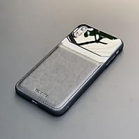 Ốp lưng da kính cao cấp dành cho iPhone XS Max - Màu đen - Hàng nhập khẩu - DELICATE