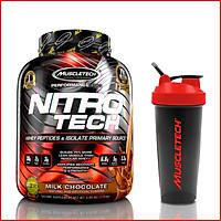 Sữa Tăng Cơ Tăng sức mạnh Nitro Tech 4lbs (1.81kg) – Bổ sung nguồn Protein chất lượng cao hỗ trợ phát triển cơ bắp to + dày - Hàng chính hãng - Thương hiệu Muscletech