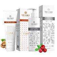 Bộ sản phẩm tắm trắng toàn thân cao cấp Truesky Premium VIP11 gồm 1 kem ủ trắng toàn thân 200ml & 1 tẩy tế bào chết 100ml