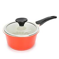 Nồi gốm chống dính nấu thức ăn cho bé LOCK & LOCK 18cm - Màu cam