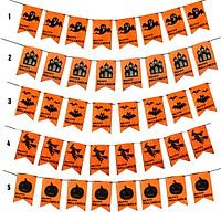 Dây cờ treo tường trang trí Halloween(giao mẫu ngẫu nhiên)