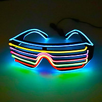 LED Glasses 3Colors Optional Light Up El Wire Neon Rave Glasses Twinkle Glowing Party Club Holiday Bar Decorative