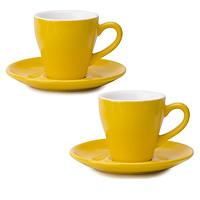 Set 2 Ly (Cốc) sứ uống cà phê Espresso cao cấp Anni Coffee Colorful 75ml