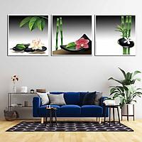 Bộ 3 tranh canvas treo tường Decor Bình hoa trang trí phòng ăn, phong cách hiện đại - DC066