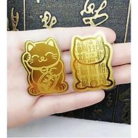 Miếng Dán Ốp Lưng Điện Thoại Mèo Chiêu Tài Vàng - Ốp Điện Thoại-MÈO THẦN TÀI CHIÊU TÀI  MAY MẮN NĂM MỚI