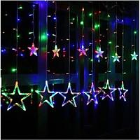 Rèm Đèn LED Hình 12 Ngôi Sao May Mắn
