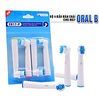 Cho máy Oral B Braun, bộ 4 Đầu Bàn Chải đánh răng điện thay thế MIHOCO EB17-P