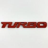 Tem kim loại 3D TURBO dán trang trí ô tô (Màu Đỏ)