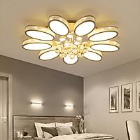 Đèn chùm pha lê phòng khách, đèn mâm ốp trần trang trí - OPLADY016
