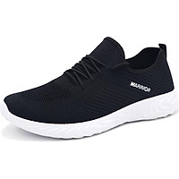 Pull back Warrior men's mesh Korean version of the wild breathable sports and leisure running shoes WXY-L042C light gray 39