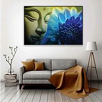 Tranh treo tường – Tranh Đức Phật  CA169 - Vải canvas kim tuyến cán PiMa - công nghệ in UV - Khung viền composite - bền màu 10 năm.
