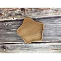 Đĩa gỗ sồi hình sao trang trí